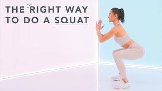 How to do squats with good form, with Megan Roup of Obe