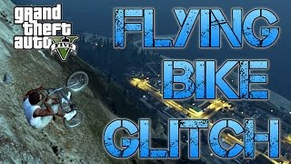 Grand Theft Auto V | FLYING BMX BIKE GLITCH | How to do it
