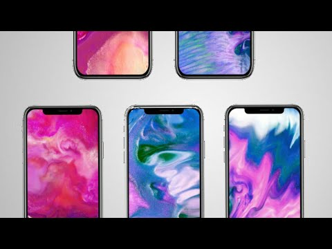 Get iphone x fluid live wallpaper on any android device | - YouTube