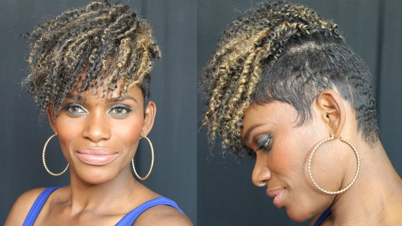 7 crochet kinky curly tapered
