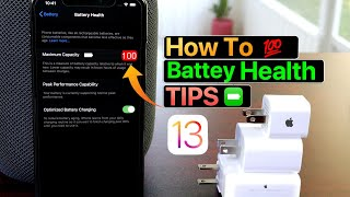 Battery Tips 100 % Battery Health on iPhone - How i do it