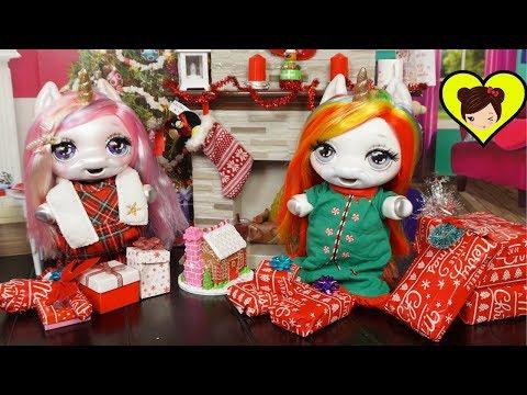 Bebes Unicornio Poopsie Abren Regalos de Navidad - Rutina Navide�a Para Ni�os