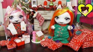 Bebes Unicornio Poopsie Abren Regalos de Navidad  - Rutina Navideña Para Niños