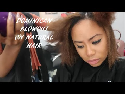 Dominican Blowout On Natural Hair Beauty On A Budget Youtube