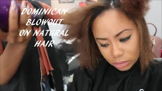 DOMINICAN BLOWOUT ON NATURAL HAIR|BEAUTY ON A BUDGET