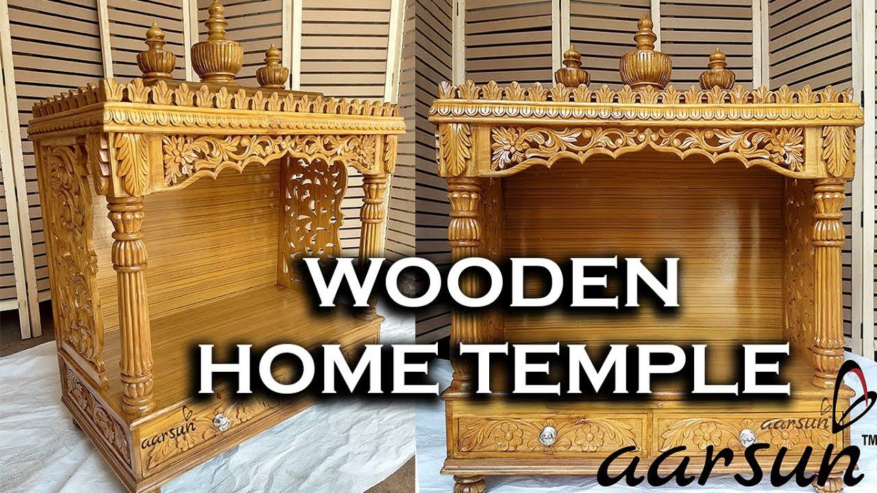 41 Teak Wood Home Mandir Puja Temple Designs Devghar Ideas Mandapam Buy Online Aarsunwoods Com