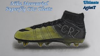 "Realistic Soccer Cleats "" Nike Mercurial Superfly CR7"" (Speed Drawing)"