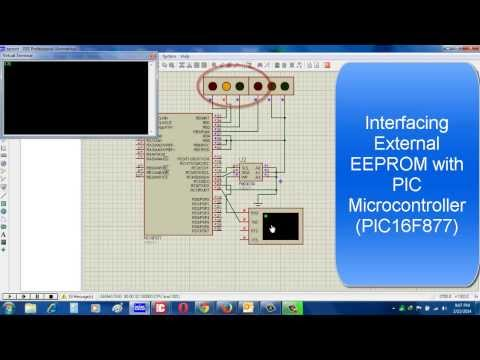 Interfacing external EEPROM with PIC Microcontroller - YouTube