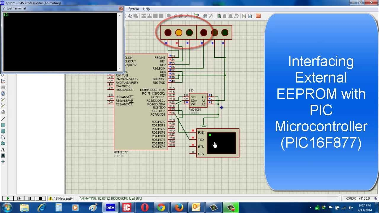 Interfacing external EEPROM with PIC Microcontroller