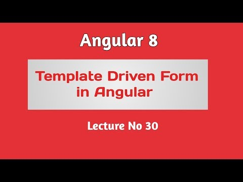 Angular 8 Tutorial - Part 30 -  Template Driven Form with best practice thumbnail