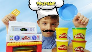 Play Doh Σούπερ Κουζίνα Επιτραπέζιο Παιχνίδια με Πλαστελίνη για παιδιά Kitchen Set βίντεο διασκέδαση