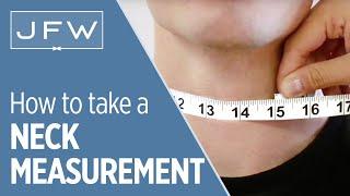 Neck Measurement for Tuxedo and Suit Rentals