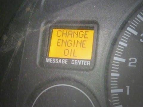 reset oil light   gmc envoy doovi