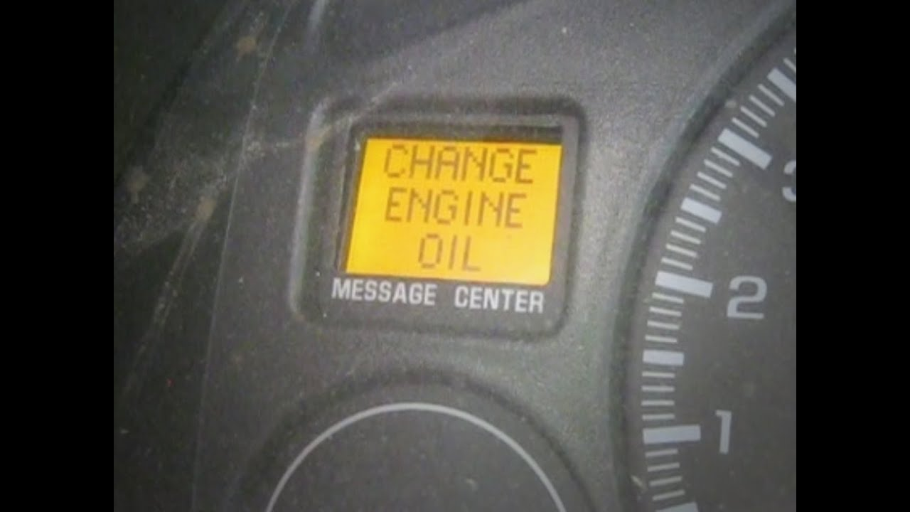 How To Reset The Change Oil Light On Dashboard Chevy Silverado Sierra