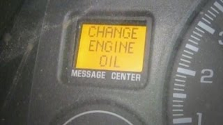 How to reset the change oil light on dashboard - Chevy Silverado - Sierra