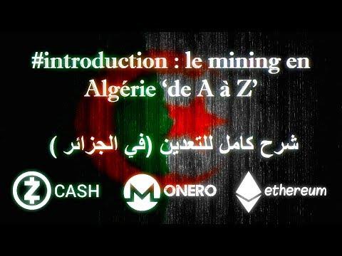 "#introduction : le mining en Algérie ""de A à Z"" (شرح كامل للتعدين (في الجزائر"