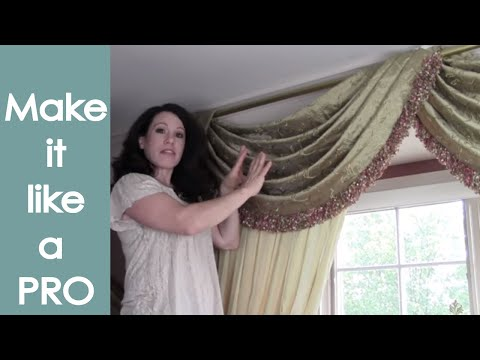 Open Pole Valance how to (step-by-step) - Renee Romeo