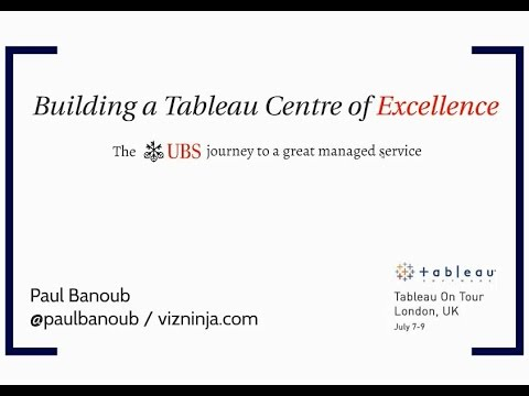 Building a Tableau Centre of Excellence at UBS