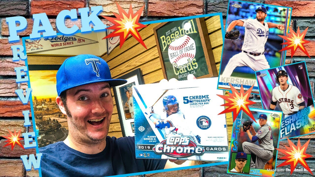 Pack Preview 2019 Topps Chrome Baseball Cards