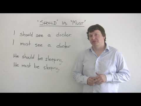 English Grammar - SHOULD &  MUST