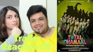 #TotalDhamaal Total Dhamaal | Official Trailer Reaction|  Feb. 22nd|Foreigner VS Indian Reaction|