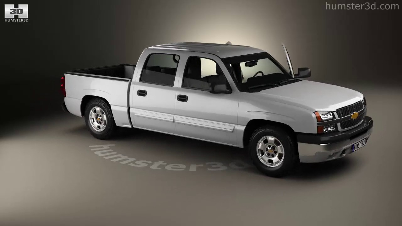 Chevrolet Silverado 1500 Crew Cab Short Bed With HQ Interior 2002 3D Model  By Hum3D.com