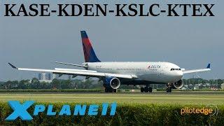 X-Plane 11 | PilotEdge Fun!! | KASE-KDEN-KSLC-KTEX | A320 A330 B737 | P.E. | New Telluride scenery!!