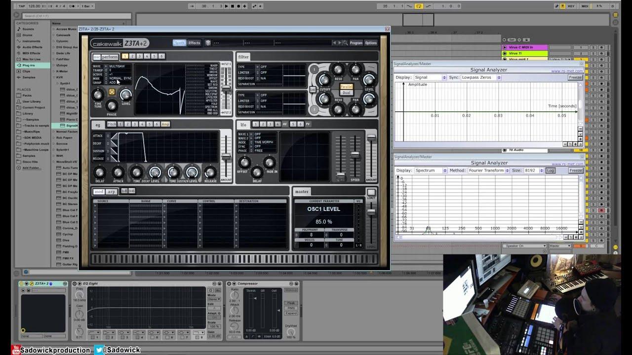 Cakewalk Z3TA+2 Tutorial 02 - Oscillators & Waveshaping