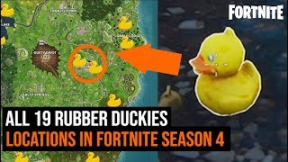 ALL 19 Rubber Duckies Locations in Fortnite | Season 4 Challenges