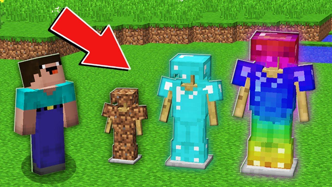 Minecraft NOOB vs PRO: WHAT SIZE RAREST ARMOR NOOB WILL CHOOSE SMALL VS NORMAL VS BIG 100% trolling