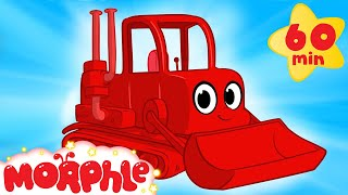 My Red Bulldozer + 1 Hour Kids Videos compilation ( Incl Digger, Firetruck) - My Magic Pet Morphle