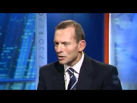 Abbott quizzed on broadband and economy