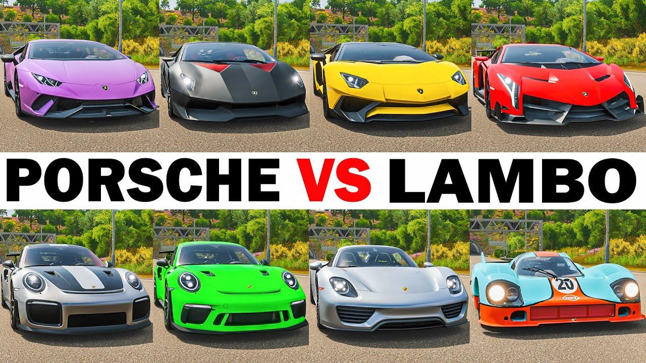 FH4 Acceleration Battle | Veneno, 918 Spyder, Aventador, 911 GT2 RS, Huracan, Carrera GT & More!