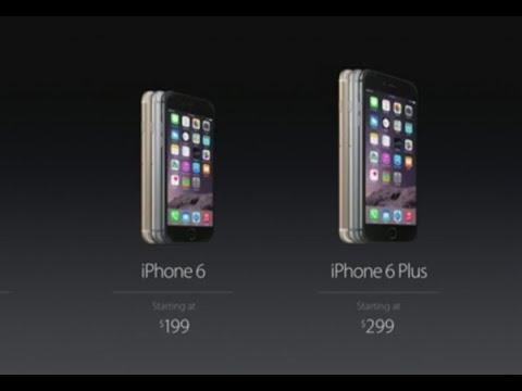 แอปเปิลเปิดตัวไอโฟน6ใหม่2รุ่น ราคาเริ่มต้น6,446บาท