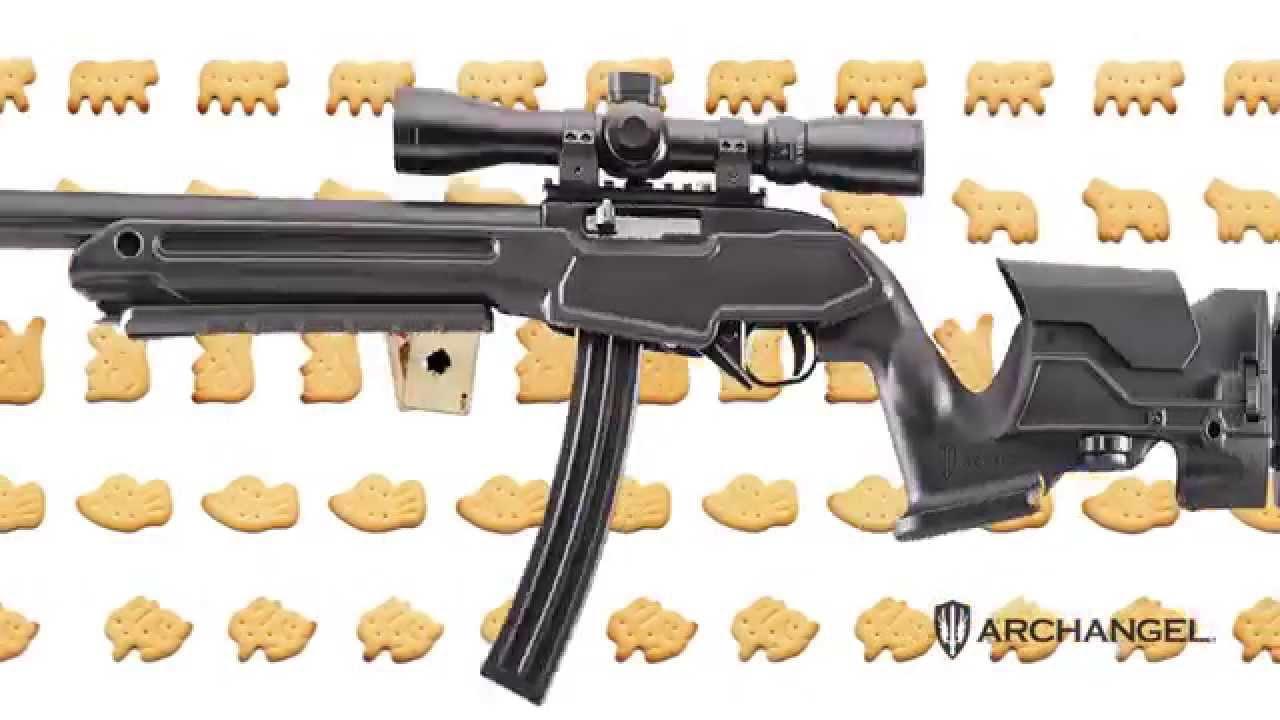 Pro Mag Archangel Ruger Precision Stock for Ruger 10//22,Black Polymer AAP1022
