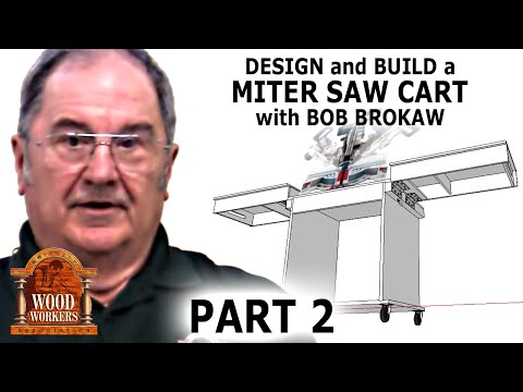 Design and Build a Miter Saw Cart (part 2)