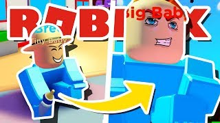I BECAME THE BIGGEST BABY EVER IN ROBLOX BABY SIMULATOR!! [UPDATE 3]