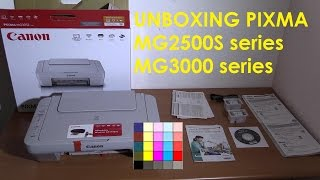 PIXMA MG2500S or MG3000 series unboxing