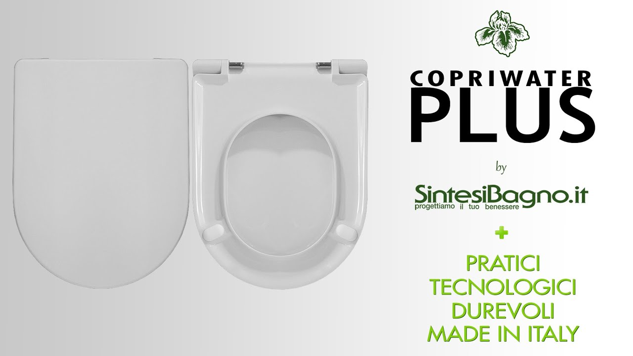 Il sedile wc / copriwater PLUS di Sintesibagno.it - YouTube