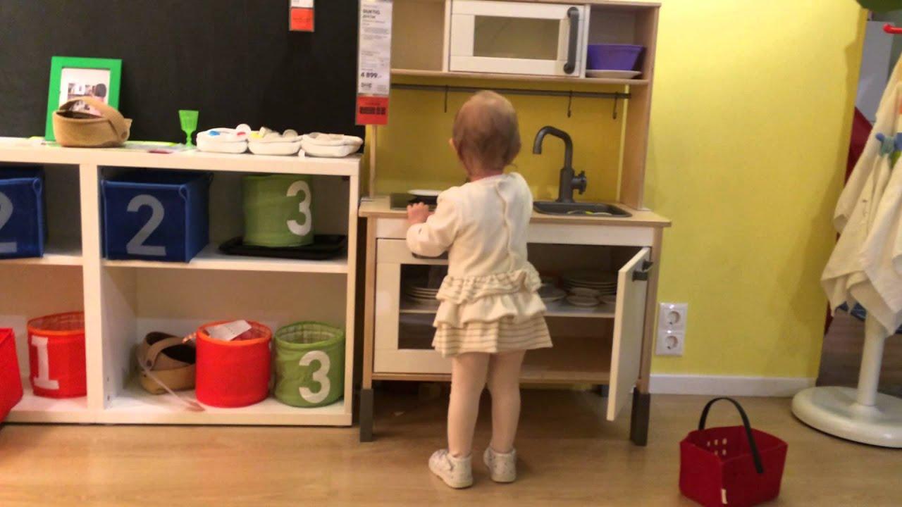 Duktig mini-kitchen, birch plywood, white width: 28