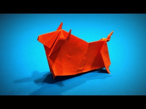 How to Make a Paper Bull (Paper Cow) DIY | Easy Origami ART | Paper Crafts