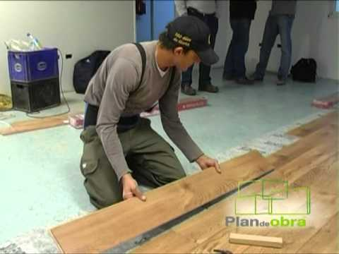 Como colocar piso flotante doovi for Como instalar suelo laminado