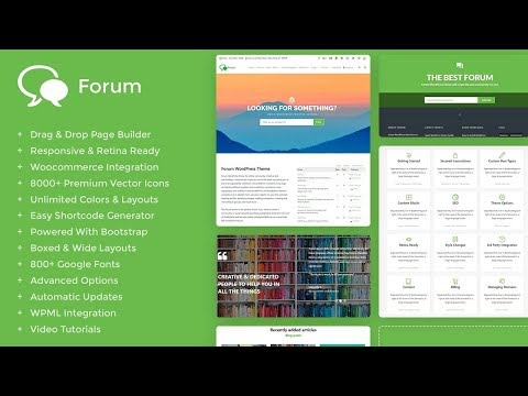 Forum WordPress Theme - Responsive bbPress and BuddyPress Template