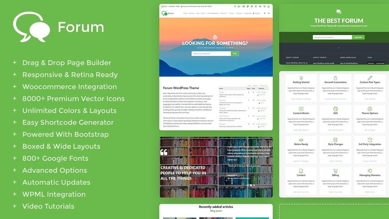 forum wordpress theme responsive bbpress and buddypress template