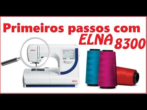 Primeiros passos da ELNA 8300 Maquina de Bordar Computadorizada : Video 2