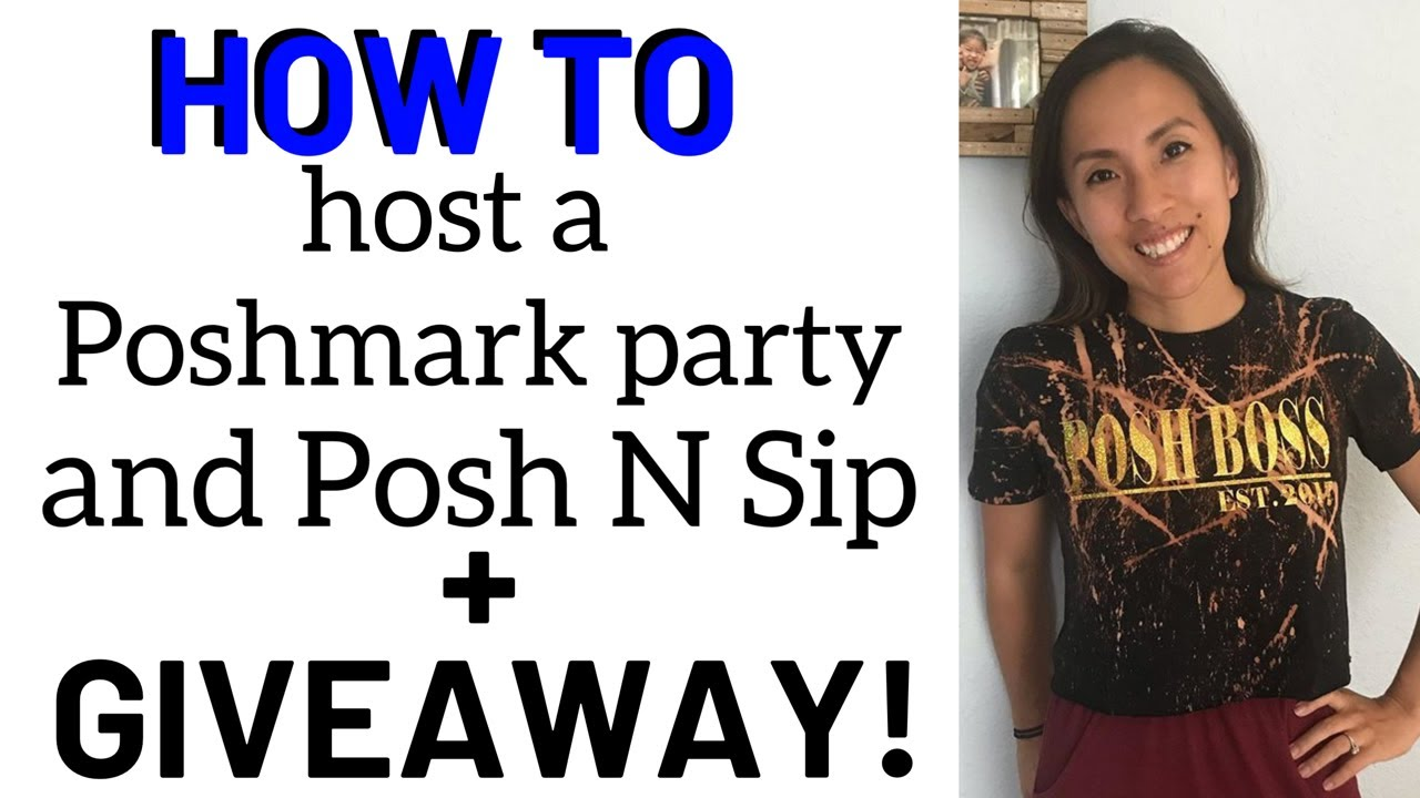 How to Host a Poshmark Party and Posh 'N Sip + A Posh Swag