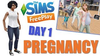 This is day 1 of pregnancy in the Sims FreePlay pregnancy update. T...