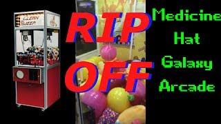 Getting Screwed / Scammed At Medicine Hat Alberta Galaxy Arcade * Claw Machine Scam *