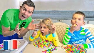 Cinq Enfants - Histoire de routine matinale pour enfants