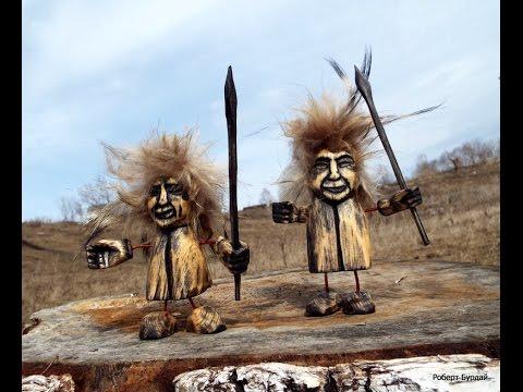 Оригинальные сувениры своими руками. Резьба по дереву + мех.wood carvings, souvenirs DIY